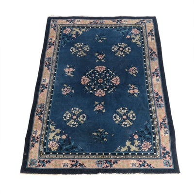 6'7 x 9'10 Hand-Knotted Chinese Peking Wool Rug