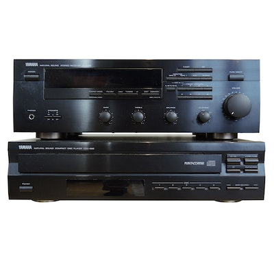 Yamaha Natural Sound RX-495 Stereo Receiver and CDC-565 Compact Disc Player