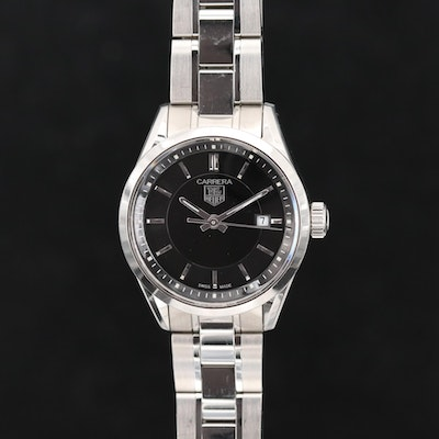 TAG Heuer Carrera Quartz Stainless Steel Wristwatch
