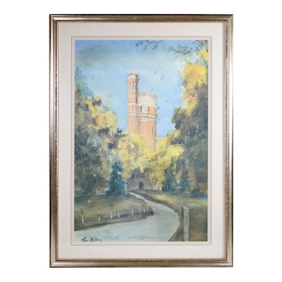 "Tom Gaither Offset Lithograph ""The Eden Park Water Tower"""