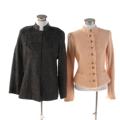 Betsey Johnson New York and Eileen Fisher Textured Weave Jackets