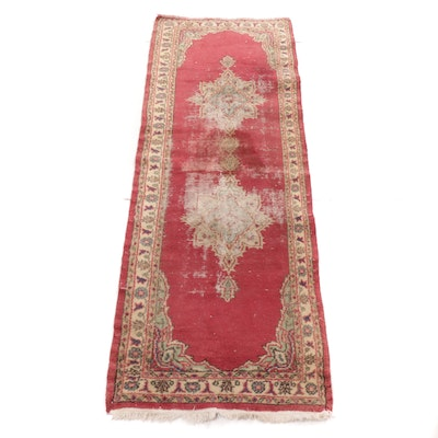 2'10 x 8'1 Hand-Knotted Turkish Kayseri Runner, 1940s