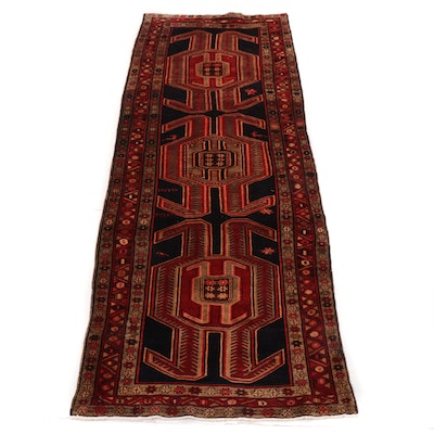4'1 x 10'11 Hand-Knotted Northwest Persian Wide Runner, 1950s