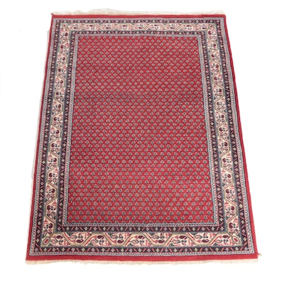 5'7 x 8'2 Hand-Knotted Indo-Mir Wool Rug