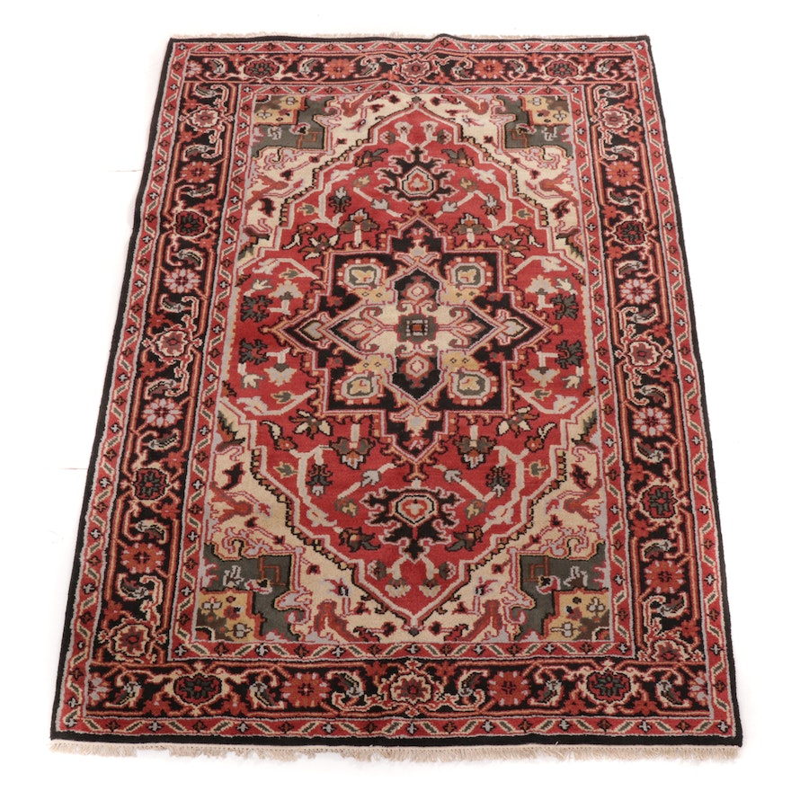 6'0 x 9'3 Hand-Knotted Indo-Persian Heriz Rug, 2010s
