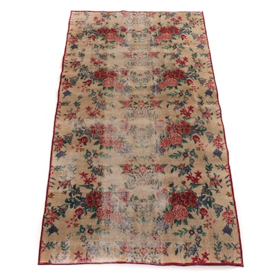 3'10 x 7'1 Hand-Knotted Turkish Village Rug, 1940s