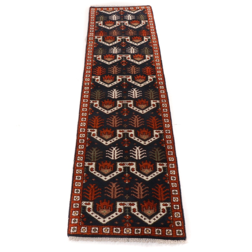 2'8 x 10'0 Hand-Knotted Indo-Persian Tabriz Runner, 2010