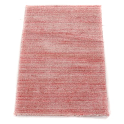 2'1 x 3'0 Hand-Knotted India Mid Century Modern Style Rug, 2000s