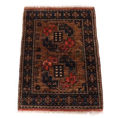 2'2 x 3'4 Hand-Knotted Afghani Turkoman Rug, 2010