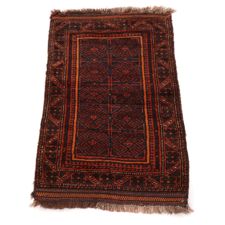 2'2 x 3'7 Hand-Knotted Persian Baluch Rug, 1920s