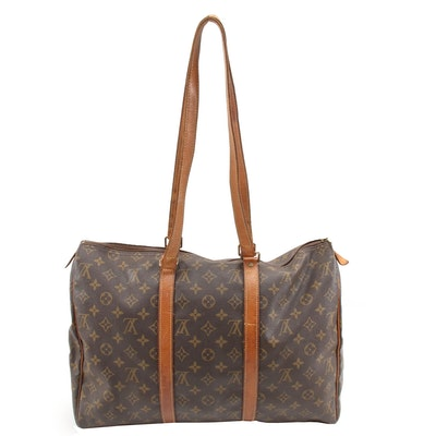 Louis Vuitton Sac Flanerie 45 Travel Bag in Monogram Canvas and Leather