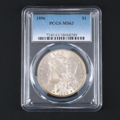 PCGS Graded MS63 1896 Morgan Silver Dollar