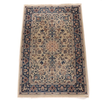 2'1 x 3'2 Hand-Knotted Sino-Persian Isfahan Rug, 1990s