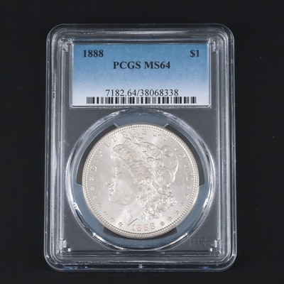 PCGS Graded MS64 1888 Morgan Silver Dollar