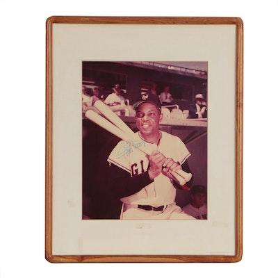 Willie Mays New York Giants Signed Framed Baseball Photo Print