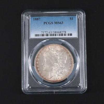 PCGS Graded MS63 1887 Morgan Silver Dollar