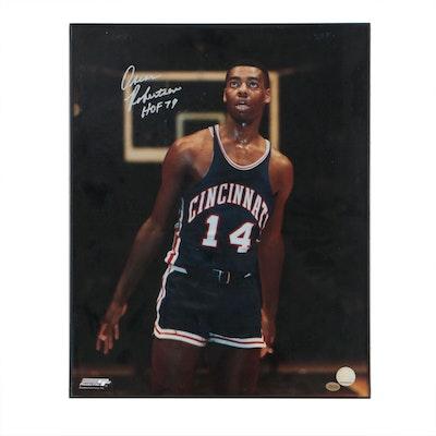 Framed Oscar Robertson Signed Cincinnati Bearcats Poster  COA