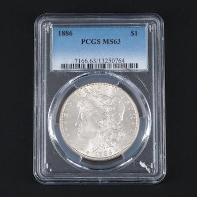 PCGS Graded MS63 1886 Morgan Silver Dollar