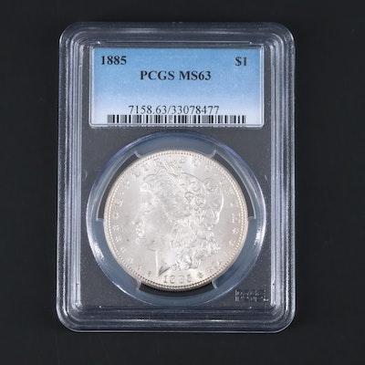 PCGS Graded MS63 1885 Morgan Silver Dollar