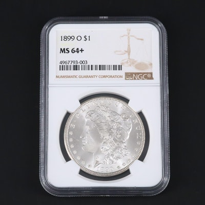 NGC Graded MS64+ 1899-O Morgan Silver Dollar