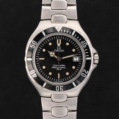 Vintage Omega Seamaster 200M Stainless Steel Quartz Wristwatch