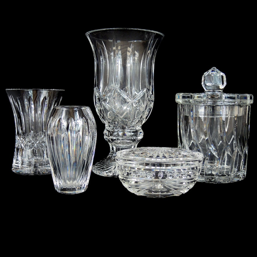"Waterford Crystal ""Carina"" Vase with Other Waterford Table Décor and Accessories"