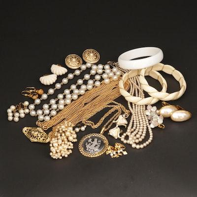 Assorted Jewelry Featuring Trifari, Les Bernard, and Carolee
