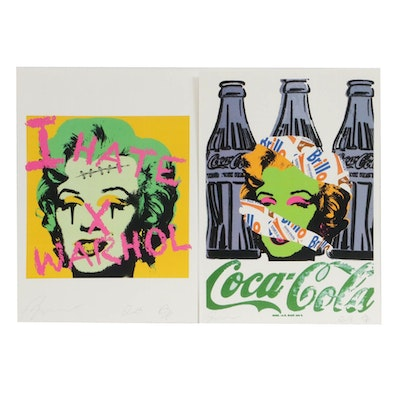 RAW Graphic Offset Lithographs Featuring Marilyn Monroe