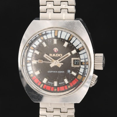 Rado Captain Cook Stainless Steel Wristwatch with Date Window, Early 1960's