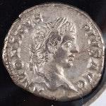 Ancient Roman Imperial AR Denarius of Caracalla, ca. 207 A.D.