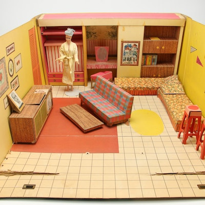 Barbie Dream House with Midge Fashion Doll, 1960's