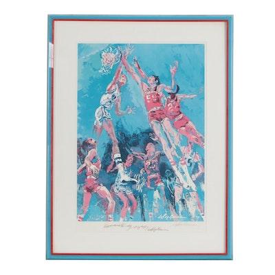 "Framed LeRoy Neiman Signed ""Hoosiers Hoopla"" Print"