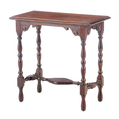 William and Mary Style Mahogany-Veneered and Stained Side Table