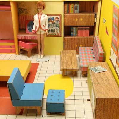 Barbie Dream House with Barbie Fashion Doll, 1960's