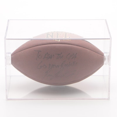 Ray Rice Signed Football with Case