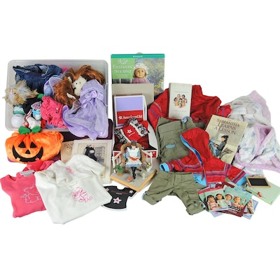 American Girl Doll Samantha Figure with Doll Outfits, Accessories, and Booklets