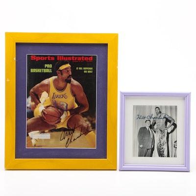 Framed Wilt Chamberlain Signed Prints