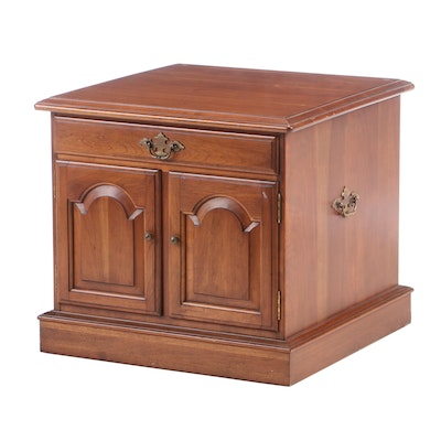 Ethan Allen Cherry Side Table Cabinet, Mid to Late 20th Century