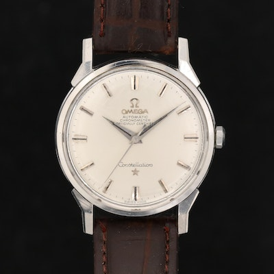 Vintage Omega Constellation Automatic Stainless Steel Wristwatch, 1962