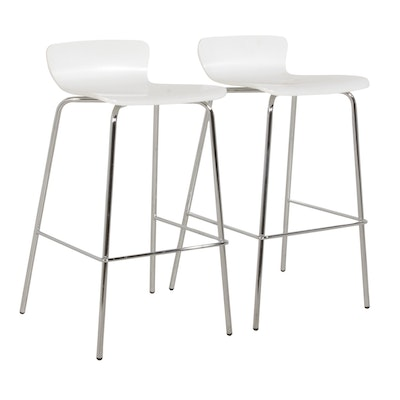 "Crate & Barrel ""Felix"" Barstools, Contemporary"