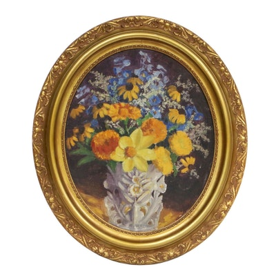 Still Life of Flowers Oil Painting, Late 19th to Early 20th Century