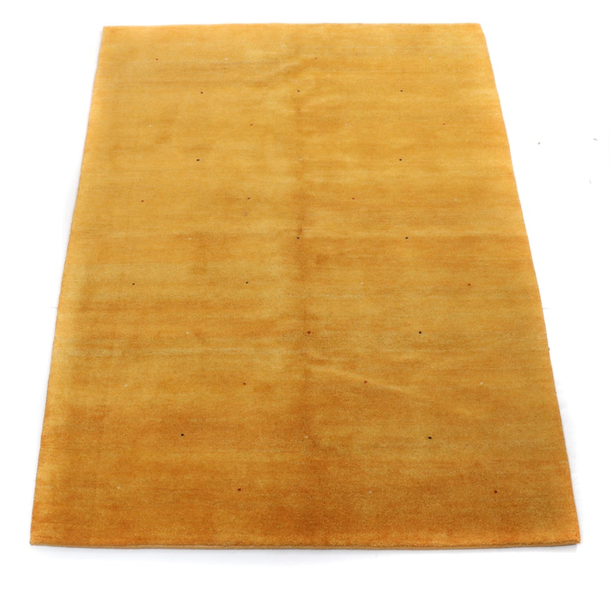 5'7 x 7'11 Hand-Knotted Indo-Persian Gabbeh Rug, 2000s