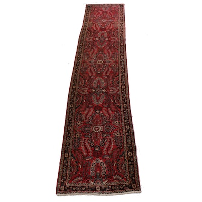 2'10 x 15'1 Hand-Knotted Persian Lilihan Runner, 1970s