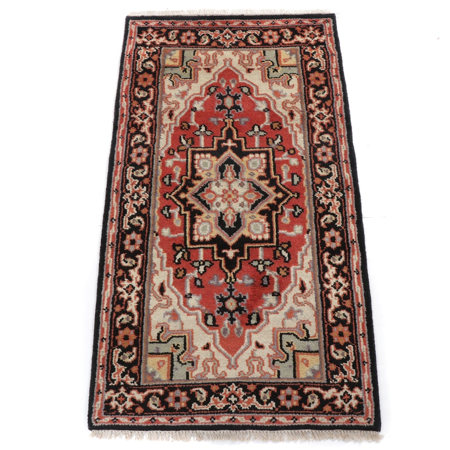 3'0 x 5'6 Hand-Knotted Indo-Persian Heriz Rug, 2010s