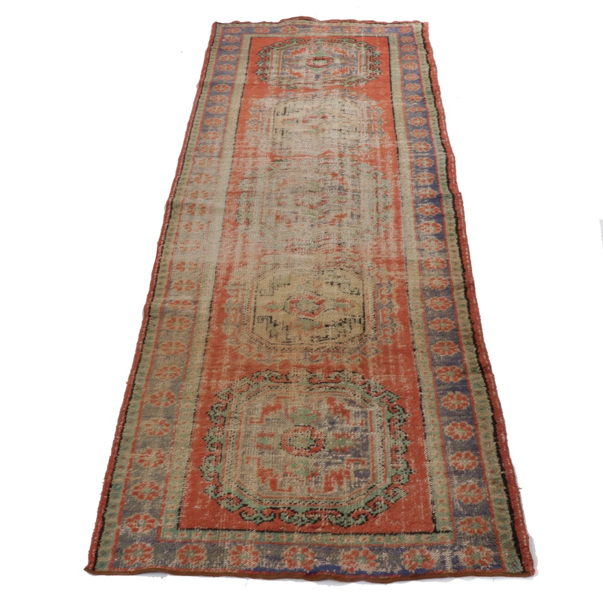 4'6 x 12'1 Hand-Knotted Northwest Persian Wide Runner, 1920s