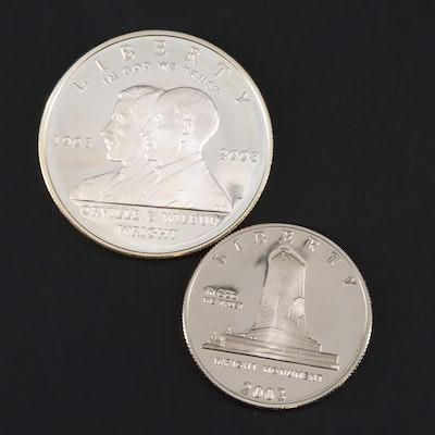 2003-P First Flight Centennial Proof Commemorative Silver Dollar and Half Dollar