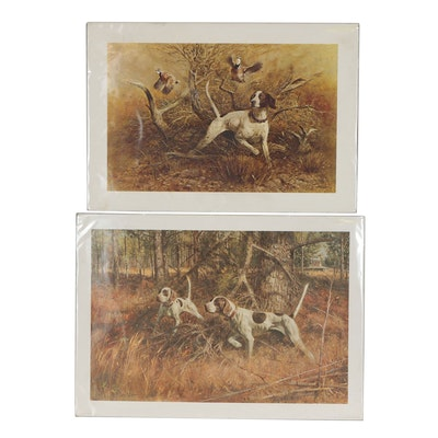 Robert K. Abbett Offset Lithographs of Hunting Dogs