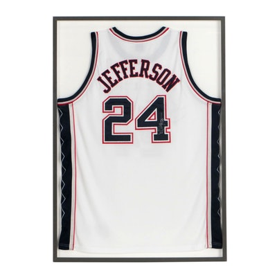 Richard Jefferson Signed Basketball Jersey, COA From the New York Nets