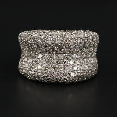 14K White Gold 2.88 CTW Pavé Diamond Ring