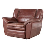 La-Z-Boy Leather Oversize Reclining Lounge Chair, Late 20th Century